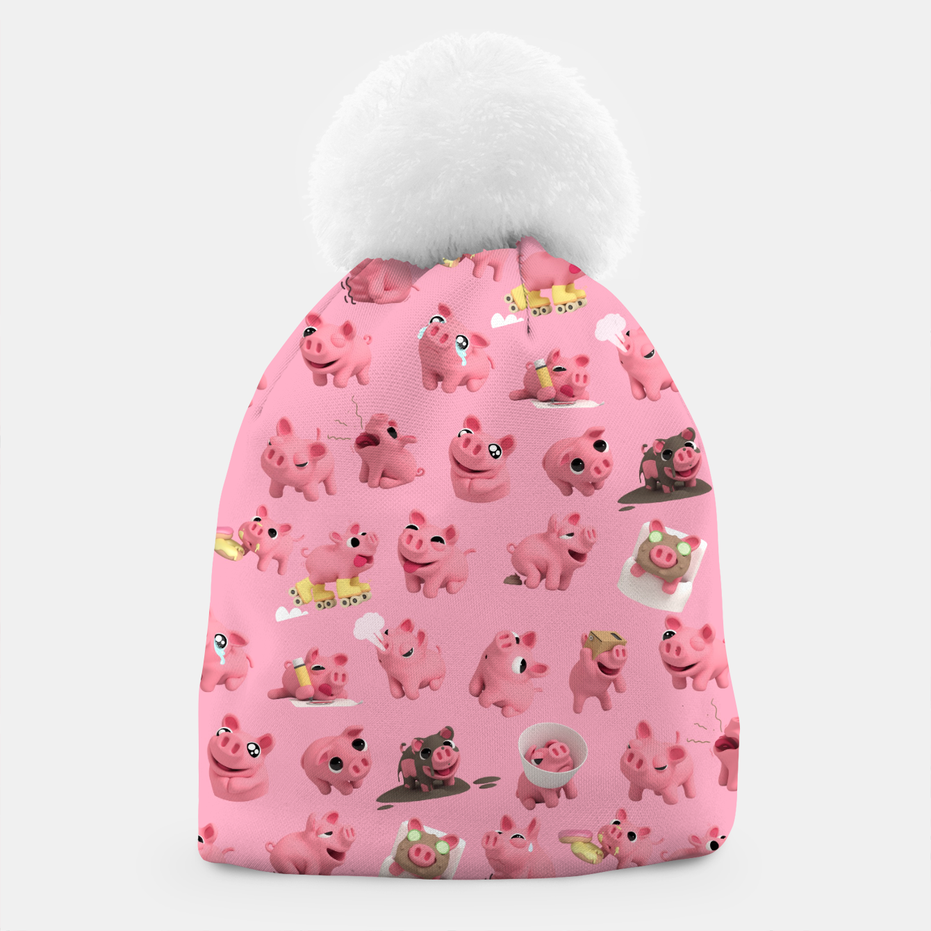 Image of Rosa the Pig Pattern Beanie - Live Heroes