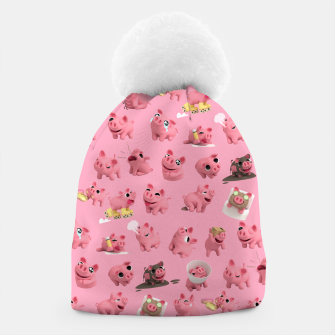 Rosa the Pig Pattern Beanie thumbnail image