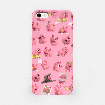 Rosa the Pig Pattern iPhone Case thumbnail image