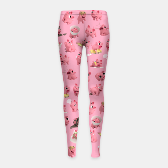 Rosa the Pig Pattern Girl's Leggings thumbnail image