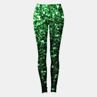 Thumbnail image of Beautiful Glamour Dark Green glitter sparkles Leggings, Live Heroes