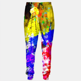 Miniaturka Eiffel Tower, France at night with colorful painting abstract background Sweatpants, Live Heroes