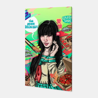 Thumbnail image of Canton Pizza Girl Canvas, Live Heroes