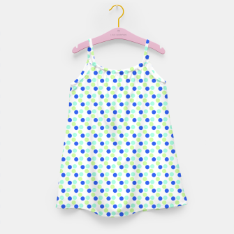 Miniaturka funky blue green polka Girl's Dress, Live Heroes