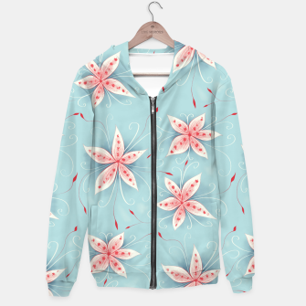 Thumbnail image of Beautiful White Red Flowers Hoodie, Live Heroes