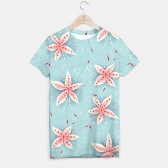 Thumbnail image of Beautiful White Red Flowers T-shirt, Live Heroes