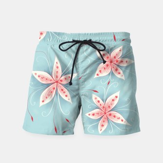 Thumbnail image of Beautiful White Red Flowers Swim Shorts, Live Heroes