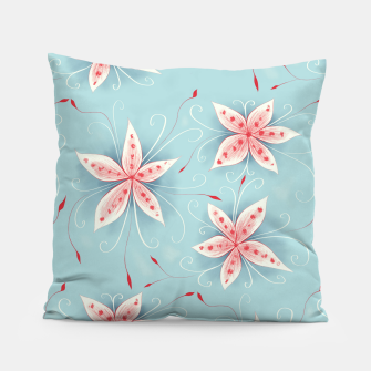 Thumbnail image of Beautiful White Red Flowers Pillow, Live Heroes