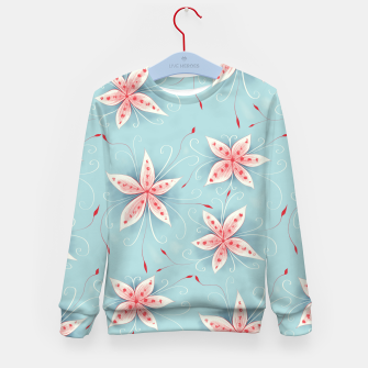 Thumbnail image of Beautiful White Red Flowers Kid's Sweater, Live Heroes
