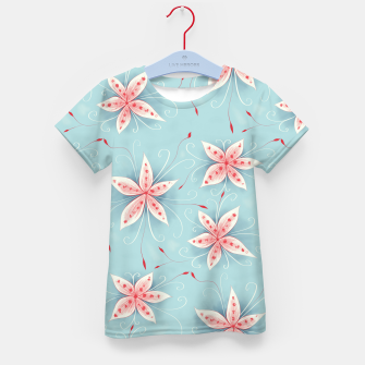 Thumbnail image of Beautiful White Red Flowers Kid's T-shirt, Live Heroes