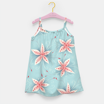 Thumbnail image of Beautiful White Red Flowers Girl's Dress, Live Heroes