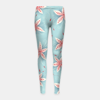 Thumbnail image of Beautiful White Red Flowers Girl's Leggings, Live Heroes