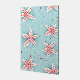 Thumbnail image of Beautiful White Red Flowers Canvas, Live Heroes