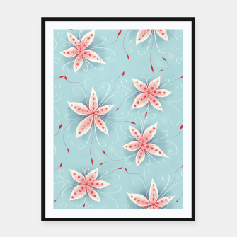Thumbnail image of Beautiful White Red Flowers Framed poster, Live Heroes