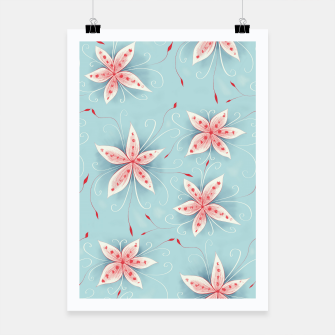 Thumbnail image of Beautiful White Red Flowers Poster, Live Heroes