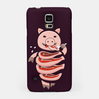 Thumbnail image of Cut In Steaks Self Eating Pig Samsung Case, Live Heroes