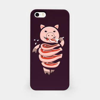 Thumbnail image of Cut In Steaks Self Eating Pig iPhone Case, Live Heroes
