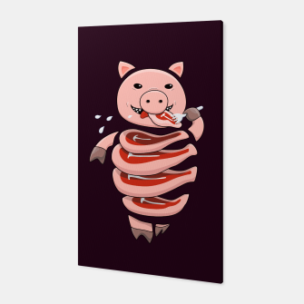 Thumbnail image of Cut In Steaks Self Eating Pig Canvas, Live Heroes