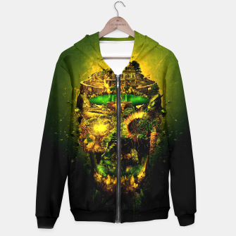 Thumbnail image of Haunted Skull II Hoodie, Live Heroes