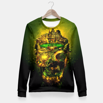 Thumbnail image of Haunted Skull II Fitted Waist Sweater, Live Heroes