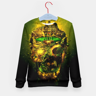 Thumbnail image of Haunted Skull II Kid's Sweater, Live Heroes