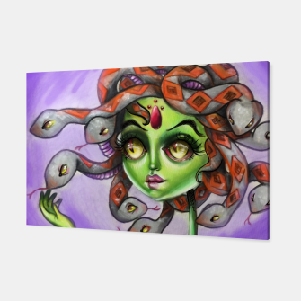 Thumbnail image of Medusa Pop Surrealism Art Canvas Print, Live Heroes