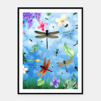 Miniature de image de There be Dragons Framed poster, Live Heroes