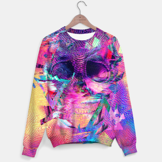 Thumbnail image of Skull Digital Art Sweater, Live Heroes