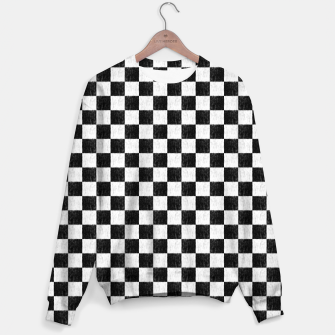 Thumbnail image of my handdrawn chess pattern Sweater, Live Heroes
