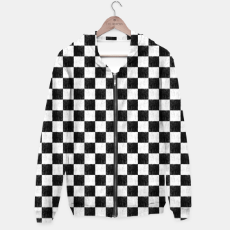 Thumbnail image of my handdrawn chess pattern Hoodie, Live Heroes