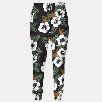 Thumbnail image of Sloth and Hibiscus Flowers Sweatpants, Live Heroes