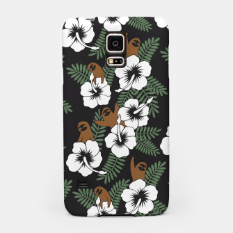 Thumbnail image of Sloth and Hibiscus Flowers Samsung Case, Live Heroes