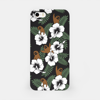 Thumbnail image of Sloth and Hibiscus Flowers iPhone Case, Live Heroes