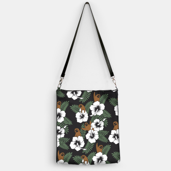 Thumbnail image of Sloth and Hibiscus Flowers Handbag, Live Heroes