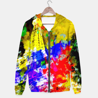Miniaturka Eiffel Tower, France at night with colorful painting abstract background Hoodie, Live Heroes