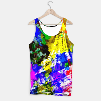 Miniaturka Eiffel Tower, France at night with colorful painting abstract background Tank Top, Live Heroes