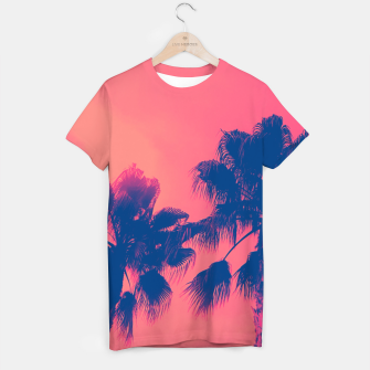 Thumbnail image of Sunset Palmtrees T-shirt, Live Heroes