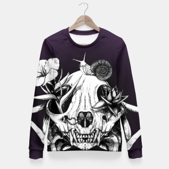 Thumbnail image of The Skull the Flowers and the Snail  Fitted Waist Sweater, Live Heroes