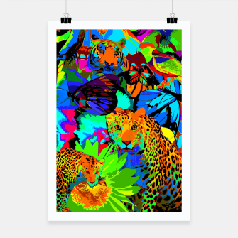 Thumbnail image of Pop Art Nature Poster, Live Heroes