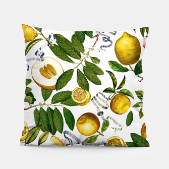 Thumbnail image of Lemon Tree white Pillow, Live Heroes