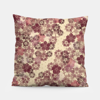 Thumbnail image of Japanese traditional Kamon decoration pink Pillow, Live Heroes