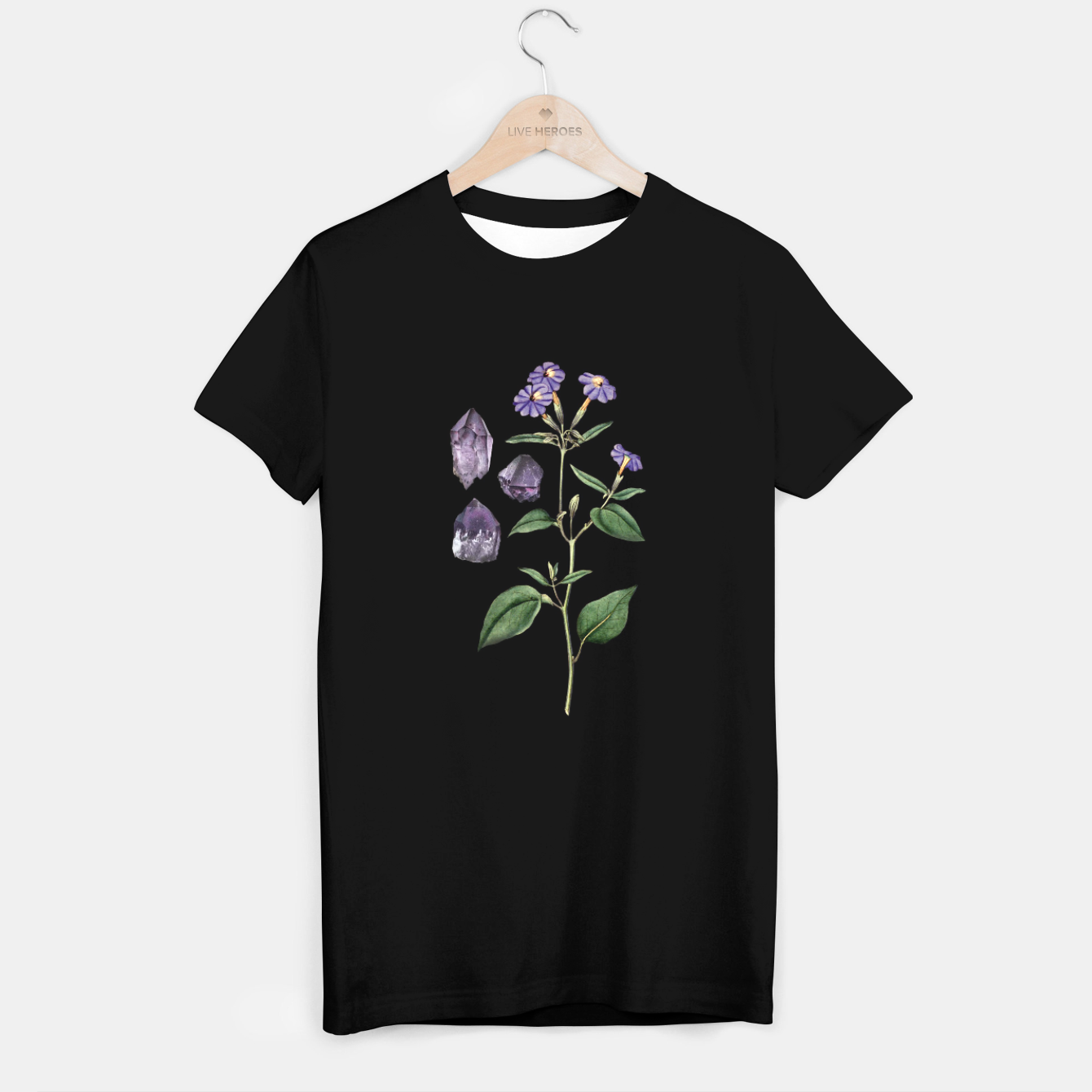 Image of Amethyst T-shirt - Live Heroes