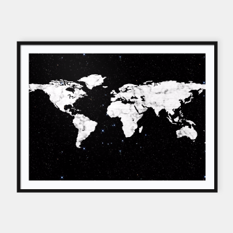 Thumbnail image of Marble World Map Framed poster, Live Heroes