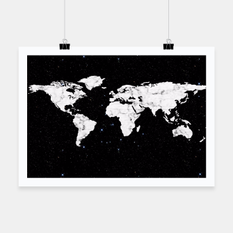 Thumbnail image of Marble World Map Poster, Live Heroes