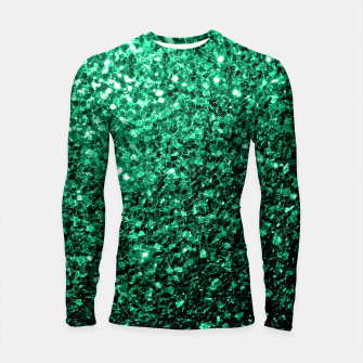 Thumbnail image of Beautiful Emerald Green  sparkles Longsleeve Rashguard , Live Heroes