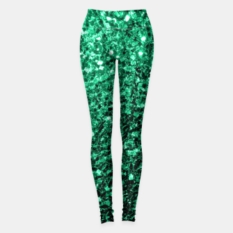 Thumbnail image of Beautiful Emerald Green  sparkles Leggings, Live Heroes