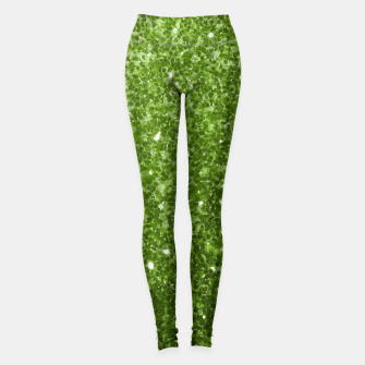 Thumbnail image of Beautiful Greenery Green glitter sparkles Leggings, Live Heroes