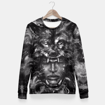 Thumbnail image of Empress Wolf Fitted Waist Sweater, Live Heroes