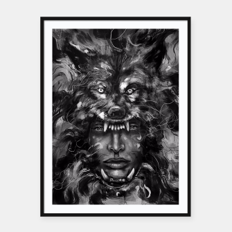 Thumbnail image of Empress Wolf Framed poster, Live Heroes