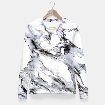 Miniaturka White Marble Fitted Waist Sweater, Live Heroes